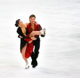 Ekaterina Rubleva and Ivan Shefer. ISU European Figure Skating Championship 2009 in Helsinki, Finland. Ekaterina Rubleva and Ivan Shefer from Russia in Ice Dance Stock Images