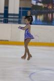 Ekaterina Sejtsova de Bielorrússia executa o programa de patinagem livre das meninas de prata da classe IV Fotos de Stock Royalty Free
