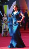 Ekaterina Volkova på Moskvafilmfestivalen Arkivbild