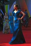 Ekaterina Volkova på Moskvafilmfestivalen Royaltyfria Foton