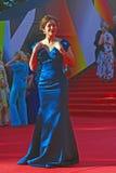 Ekaterina Volkova på Moskvafilmfestivalen Fotografering för Bildbyråer