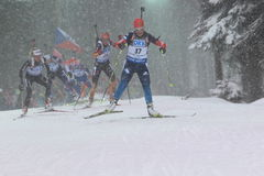 Ekaterina Yurlova - biathlon Royalty Free Stock Photos