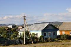 Ekaterinburg, Ρωσία 1 Σεπτεμβρίου 2017 Σπίτια προαστίου λεπτός καιρός Στοκ φωτογραφία με δικαίωμα ελεύθερης χρήσης