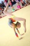 EKATERINBURG - 13. APRIL: Lehrprobe am Jugend-Gymnastik-Wettbewerb Stockbilder