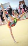 EKATERINBURG - 13. APRIL: Lehrprobe am Jugend-Gymnastik-Wettbewerb Lizenzfreie Stockfotos