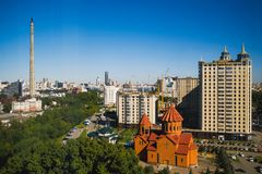 Ekaterinburg, city view from the window of the house stock image