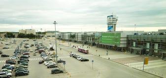 Ekaterinburg-Flughafenabfertigungsgebäude-Gebäude lizenzfreie stockfotos