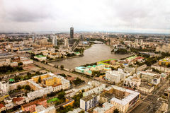 Ekaterinburg from a height Royalty Free Stock Photos