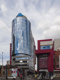Ekaterinburg nieuwe gebouwen Stadscentrum Radishchevstraat russ Royalty-vrije Stock Afbeelding