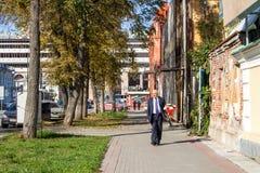 Ekaterinburg, Rússia - 24 de setembro 2016: Paisagem da cidade Imagens de Stock Royalty Free