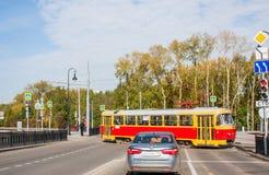 Ekaterinburg, Rússia - setembro 24,2016: Transporte público Fotografia de Stock
