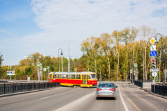 Ekaterinburg, Rússia - setembro 24,2016: Transporte público Imagens de Stock Royalty Free