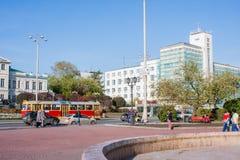 Ekaterinburg, Rússia - setembro 24,2016: Transporte público - um t Fotos de Stock Royalty Free