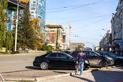 Ekaterinburg Rosja, Wrzesień, - 24 2016: Miasto krajobraz Obrazy Royalty Free
