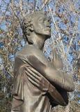 EKATERINBURG, RUSIA - 21 DE OCTUBRE DE 2015: Foto del monumento a Alexander Pushkin imagen de archivo
