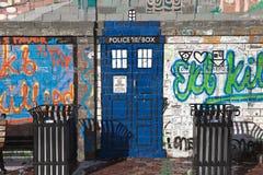 EKATERINBURG, RUSLAND - OKTOBER 21, 2015: Foto van a-fragment van de muur, royalty-vrije stock foto's