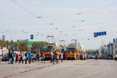 Ekaterinburg, Rusland - September 24.2016: Openbaar vervoer Stock Foto