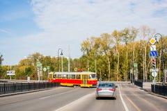 Ekaterinburg, Rusland - September 24.2016: Openbaar vervoer Royalty-vrije Stock Afbeeldingen