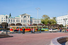 Ekaterinburg, Rusland - September 24.2016: Openbaar vervoer - t Stock Afbeelding