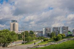 Ekaterinburg, Russia - July 3, 2017: City streets in the centre. Of Yekaterinburg Royalty Free Stock Photo
