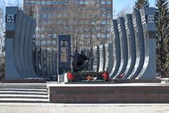 EKATERINBURG, RUSSIA - MARCH  19, 2015: Photo of Monument Black Tulip. Stock Photos