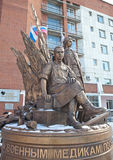 EKATERINBURG, RUSSIA -  OCTOBER 21, 2015: Photo of Monument military medics. Stock Photography