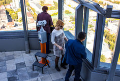 Ekaterinburg, Russia - September 24.2016: People on a viewing platform 52 floors Stock Image