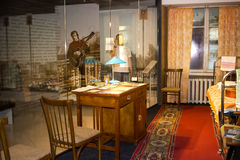 Ekaterinburg, Russia - September 24.2016: Vysotsky`s Museum. Ekaterinburg, Russia - September 24.2016: Vladimir Vysotsky`s Museum, an interior of an apartment Royalty Free Stock Image