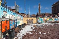 EKATERINBURG, RUSSLAND - 21. OKTOBER 2015: Foto der Wand das Beatles Stockfotos