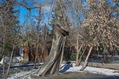 EKATERINBURG, RUSSLAND - 21. OKTOBER 2015: Foto des Monuments zu Alexander Pushkin Stockfotos