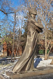 EKATERINBURG, RUSSLAND - 21. OKTOBER 2015: Foto des Monuments zu Alexander Pushkin Lizenzfreies Stockbild
