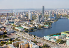 Ekaterinburg, Russland - 24. September 2016: Stadtlandschaft Lizenzfreies Stockfoto