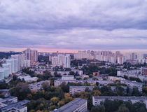 Ekaterinburg view from roof Royalty Free Stock Photos