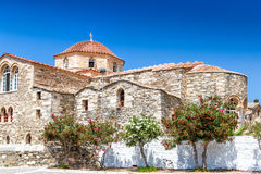 The Ekatontapiliani church in Parikia old town, Paros Stock Photos