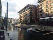Ekeberg雕刻家公园视图奥斯陆海湾挪威 免版税图库摄影