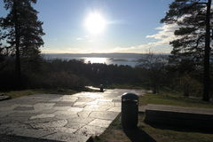 Ekeberg Sculptor Park view Oslo fjord Norway Royalty Free Stock Images