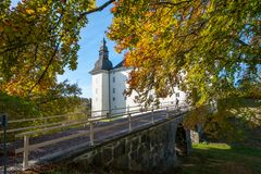 Ekenäs castle during fall in Östergötland, Sweden. Linkoping, Sweden - October 17, 2010: Ekenäs castle during fall in the countryside outside Link stock image
