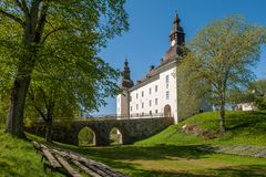 Ekenäs castle during spring in Sweden. Linköping, Sweden - May 16, 2009: Ekenäs castle in the countryside outside Linköping during spring in Sweden royalty free stock photography