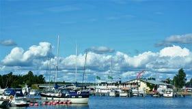 Ekenas little harbour in Finland. EKENAS - FINLAND - ON 07/27/2009 - ekenas little harbour in Finland stock image