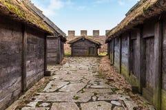 Eketorp Форт железного века в юговосточной Ã-земле, Швеции стоковые фотографии rf