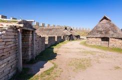 Eketorp castle Iron Age houses Stock Photo