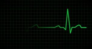 EKG或ECG线以绿色 皇族释放例证