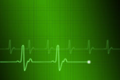 EKG 1. An abstract ekg on a green gridded background Royalty Free Stock Photography