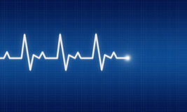EKG royalty free illustration