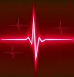 Ekg. Red heart beat. Ekg graph Stock Images