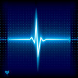 Ekg. Blue heart beat. Ekg graph Stock Photography