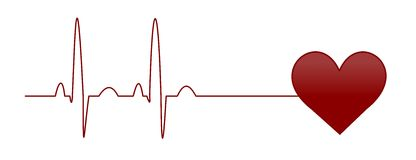 EKG. Illustration of a normal ekg heart beat Royalty Free Stock Image