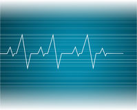EKG Abstract. Heart beats cardiogram illustration Royalty Free Stock Photos