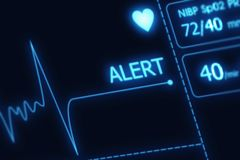 EKG Alert Illustration. No Pulse Alert. Health Care Illustration Collection Stock Image