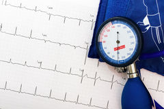 Ekg and blood pressure measurement Royalty Free Stock Images